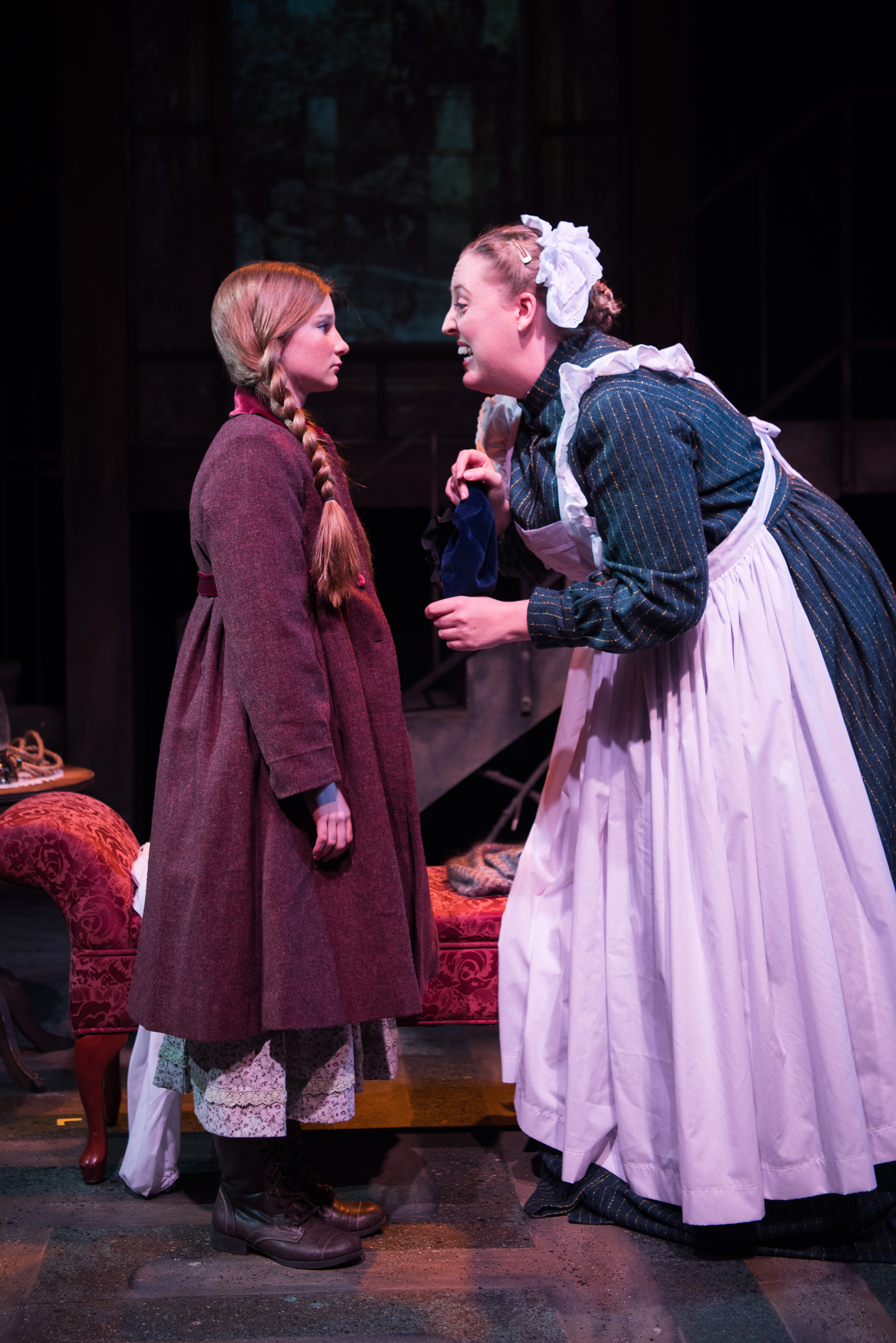 l to r katie maupin as mary lennox and heather orth as martha - The Secret Garden Musical
